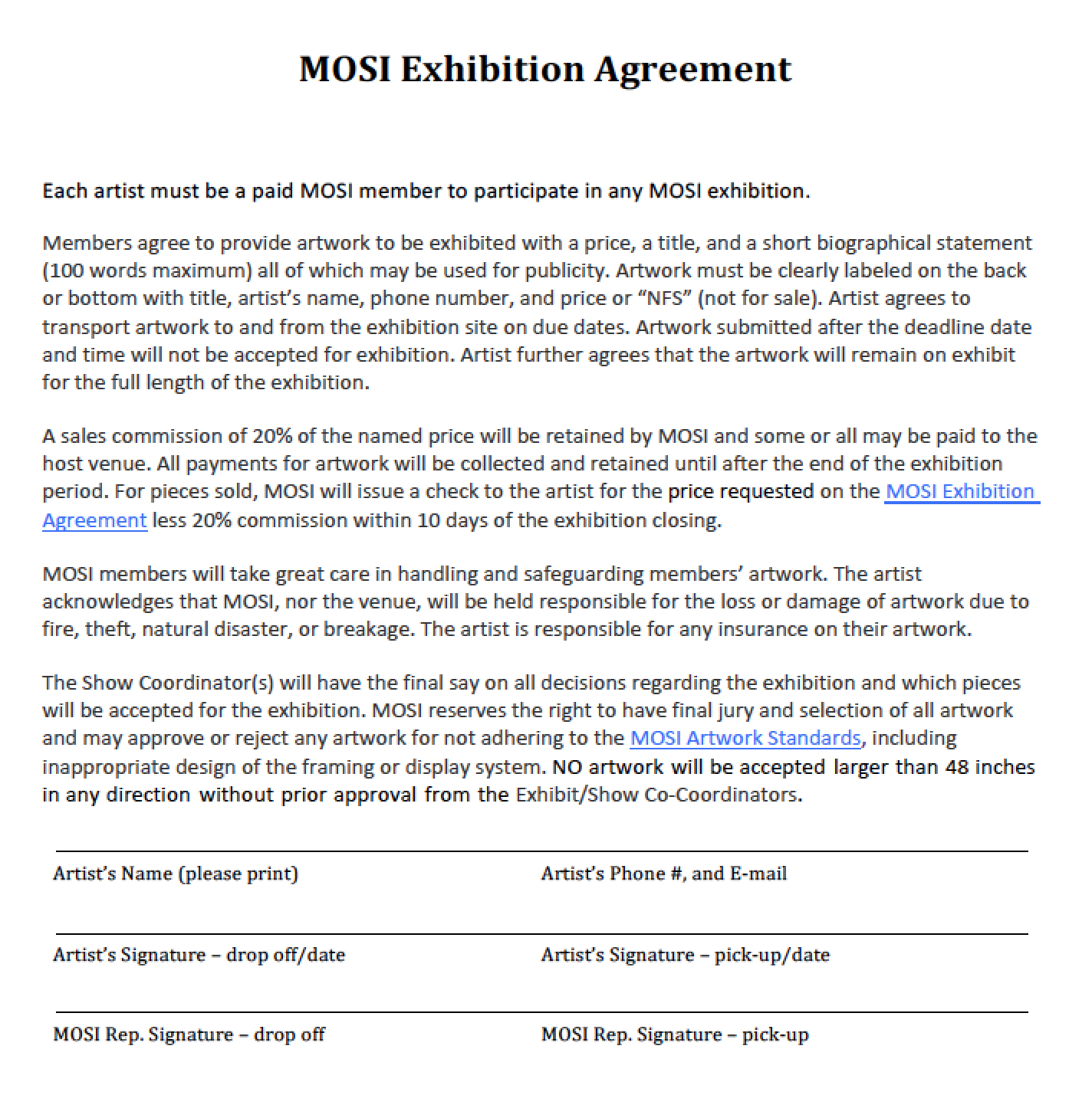 mosi-exhibition-agreement