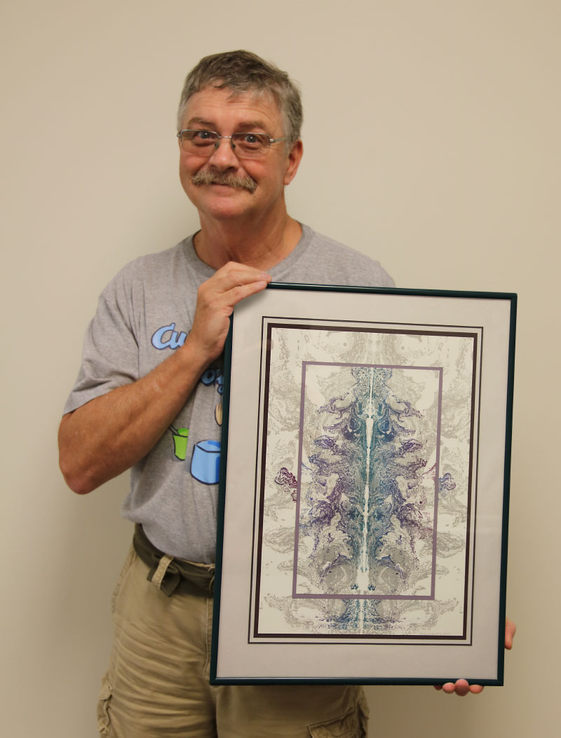 Greg Walter with Outside-In Lithograph